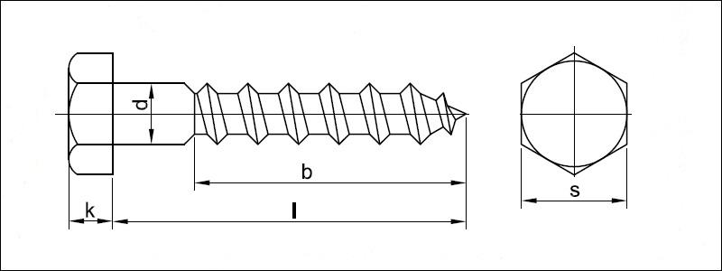 Relativ Sechskant-Holzschrauben DIN 571 - Valenta ZT s.r.o. WX84